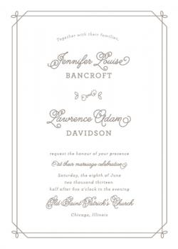 Floral Corners Wedding Invitations