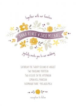 wild garden Wedding Invitations