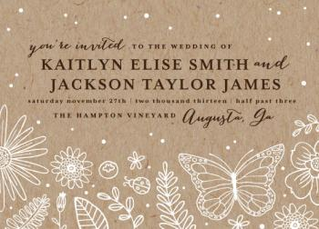 Flower Fields Wedding Invitations