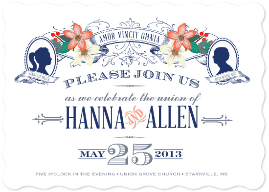 wedding invitations - Vintage Silhouettes by Rachel Wiles/Benign Objects