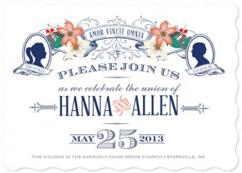 Vintage Silhouettes Wedding Invitations
