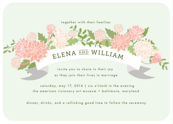 wedding invitations - Dahlia Grove by Laura Condouris
