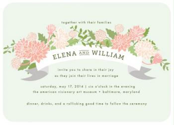 Dahlia Grove Wedding Invitations