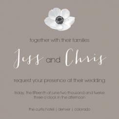 Elegant Anemone  Wedding Invitations