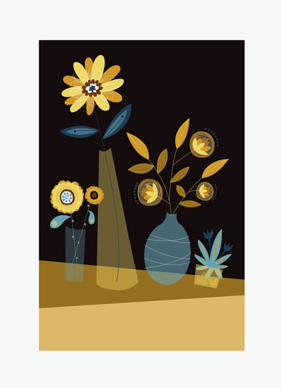art prints - midnight vases by Danielle Hartgers