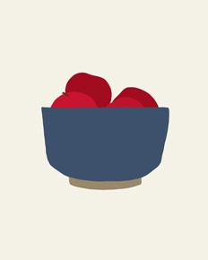art prints - bowl of apples by Jorey Hurley