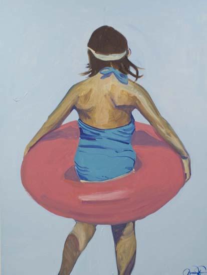 art prints - Violet Intertube 1 by Annie Seaton