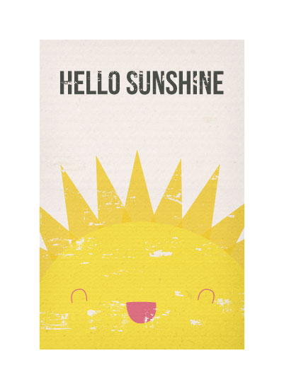 art prints - Hello Sunshine by Kelsey Clanton