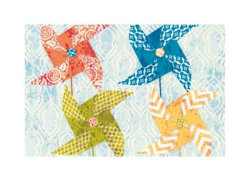 Pattern Pinwheels Art Prints