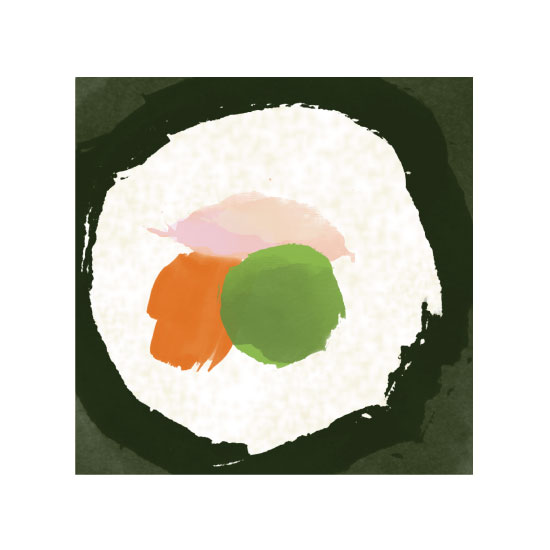 art prints - California Roll by Eva Nashed