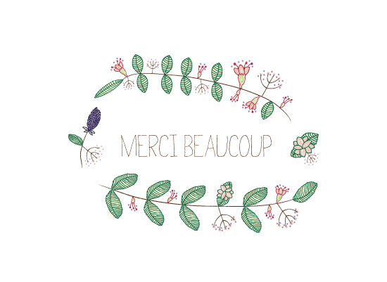 art prints - Floral in French. by fox bear designs