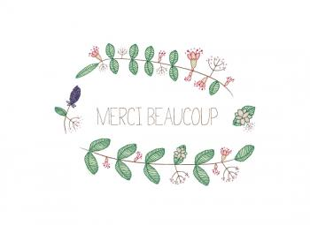 Floral in French.