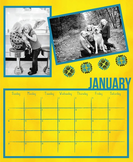 calendars - Mellow Yellow Calendar by Alexandra Nazari