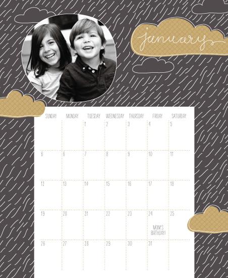 calendars - RainRain by Muffin Grayson