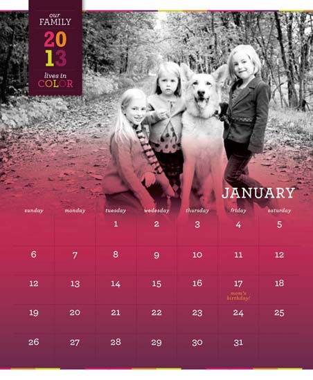 calendars - In Living Ombre by Ann Parker