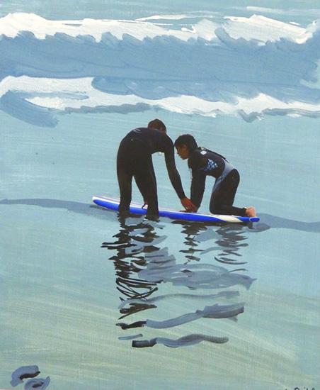 art prints - Surf lesson, Venice Beach by Annie Seaton
