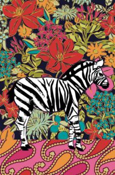 zebra floral Art Prints