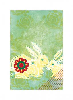Patchwork Hare Art Prints