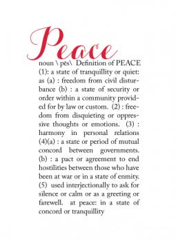 Definitions:  Peace