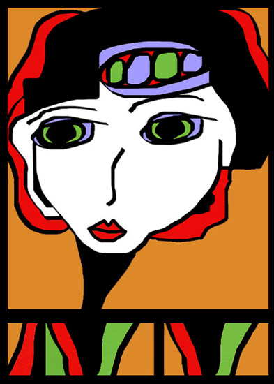 art prints - Audrey by Judy Kushner