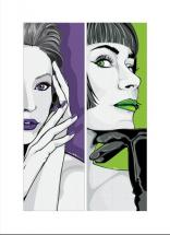 Purple and Green by Selena Squarzanti