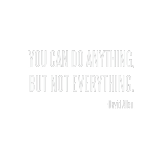 art prints - David Allen Quote by Becky Nimoy