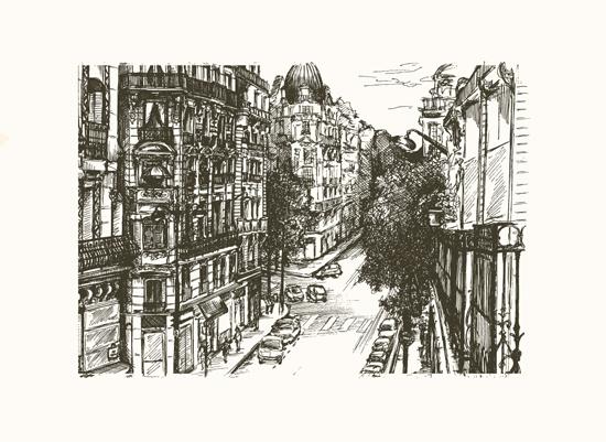 art prints - rue pierre demours by pottsdesign