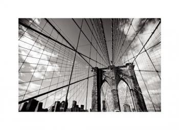 When the Bridge meets the Cityscape Art Prints