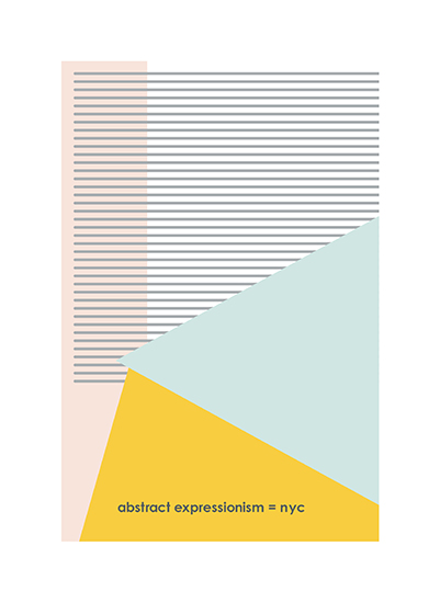 art prints - Abstract Expressionism by Llorente Design
