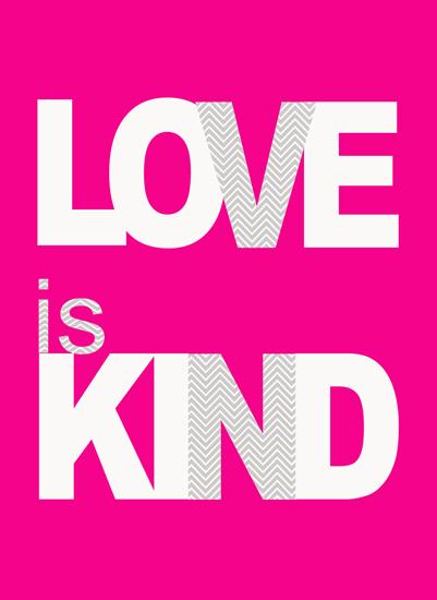 art prints - Love is Kind by Rebecca Whitehead
