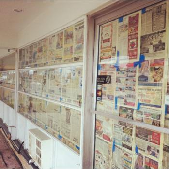 Newspaper Windows Art Prints