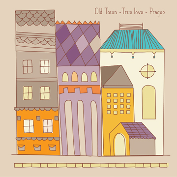 art prints - your own town center by Melissa Cornet
