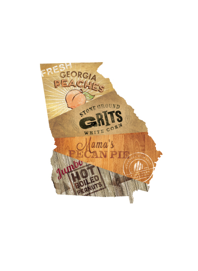 art prints - Georgia Flavor by Susie Allen