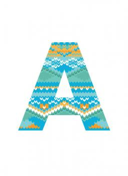 Fair Isle Letter Art Prints