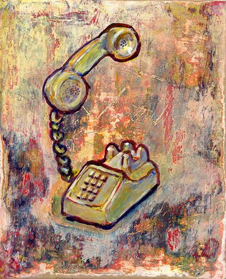 art prints - Telephone Call by Alex Elko Design