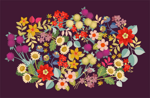 art prints - Wildflower Tangle