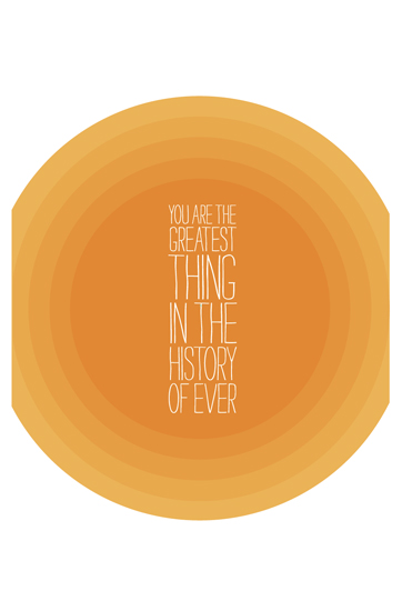 art prints - Greatest Thing by 45wall design