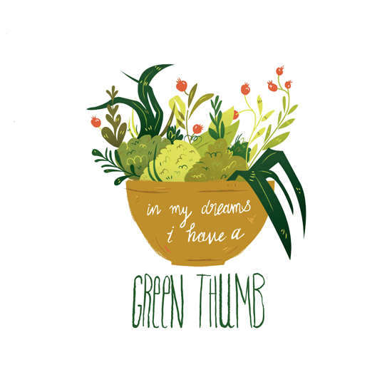 art prints - Green Thumb Dreams by Emma Trithart