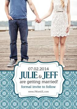 J&J Embellish Save the Date Save the Date Cards
