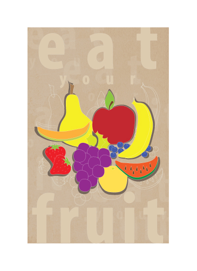 art prints - Eat your fruit by Stellax Creative