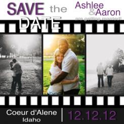 Going to the Movies Save the Date Cards