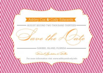 A+C Stripes Save the Date Save the Date Cards