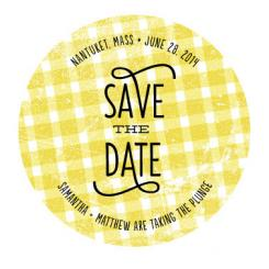 Picnic Party Save the Date Cards