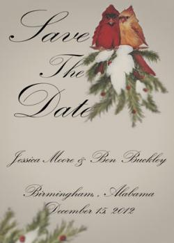 Red Birds Save the Date Cards