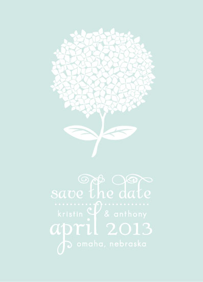 save the date cards - Spring Hydrangea by Backwoods Design