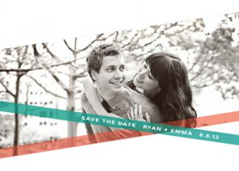 Slanted Save the Date Cards