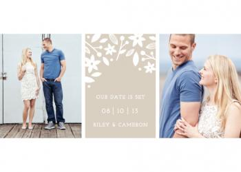 Floral Frames Save the Date Cards