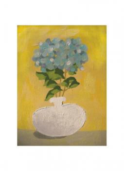 Grandma's Hydrangeas Art Prints