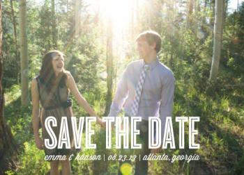 Track to Love Save the Date Cards