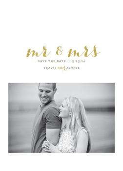 Mr & Mrs Save the Date Cards